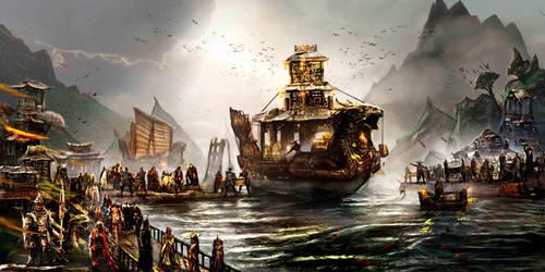 Chinese Treasure Ship by Joseph-C-Knight