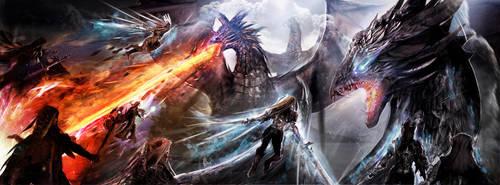 Dragons Glory of Battle by Joseph-C-Knight