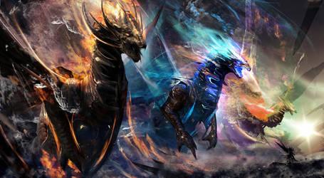 Dragon Cosmos by Joseph-C-Knight