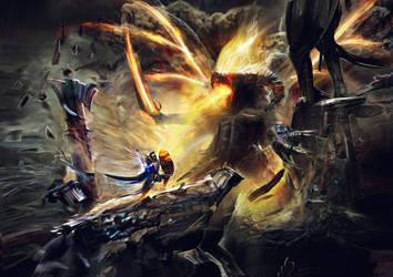 Belor lord of Suffering Battle by Joseph-C-Knight