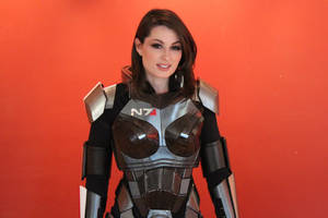 Completed Femshep armor by NaughtyZoot