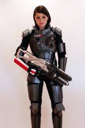 Commander Shepard cosplay with N7 Valkyrie by NaughtyZoot