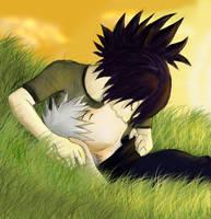 Anko and Kakashi kiss colo by DArk-Manix