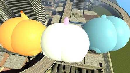 Blimp pokemon butts by legoben2