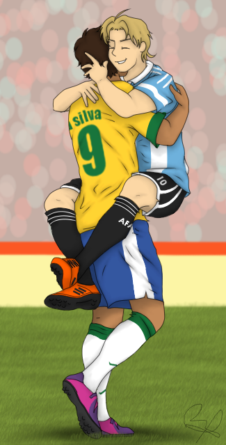 Latin Hetalia Brazil X Argentina By Luzb
