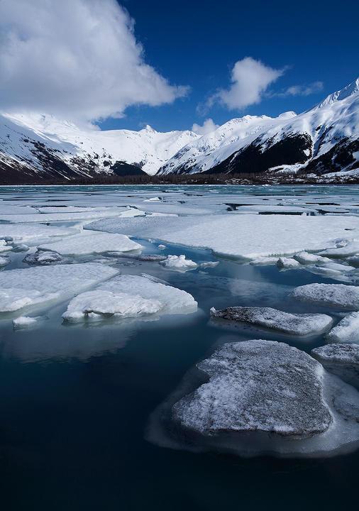 Portage Glacier, Alaska by Brettc