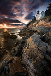 Bass Harbor Head Light,Maine by Brettc