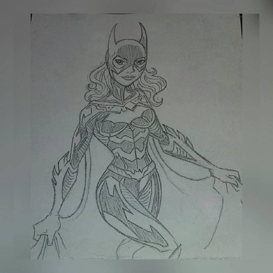Attempted Bat Girl character sketch by Ess96