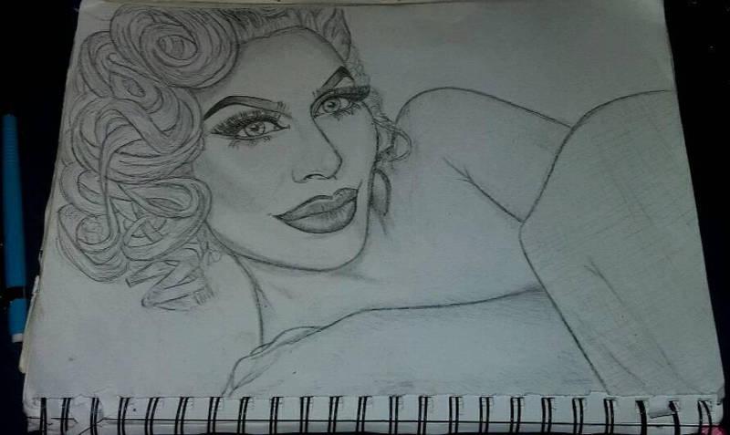 Tumblr Marilyn semi portrait Sketch by Ess96