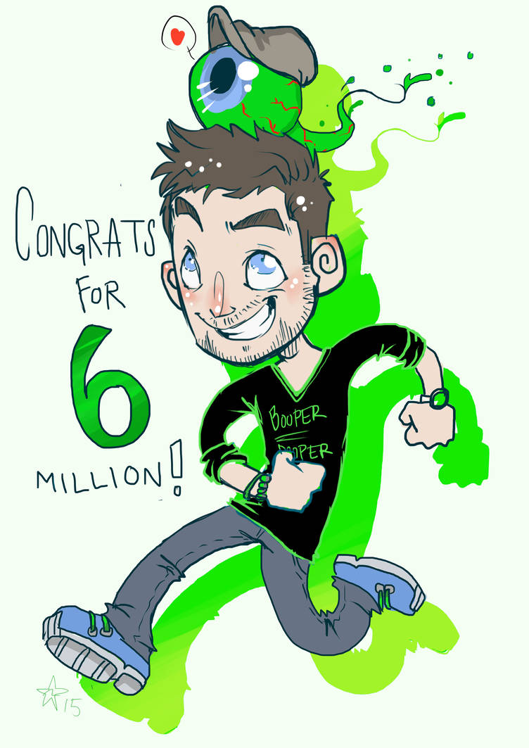 Congrats for 6 million subs! - Jacksepticeye by woodooferret