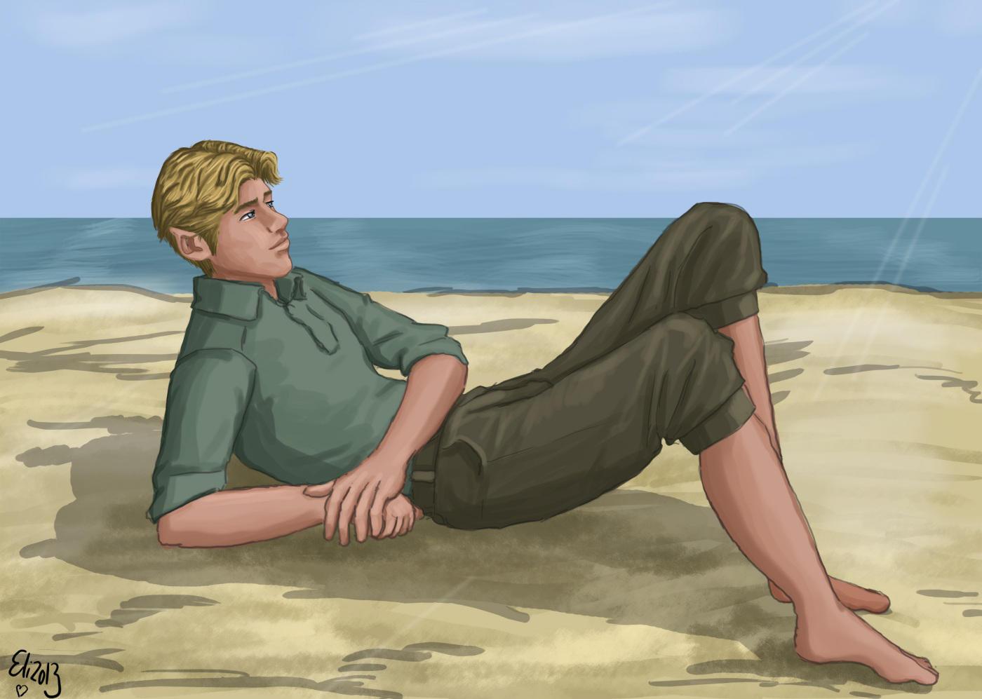 Gad at beach by Elikal