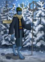 Dragon Sage in Winter by Elikal