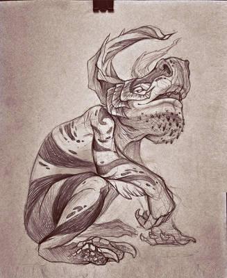 Creature sketch by WolfsECHO