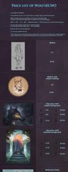 Price list by WolfsECHO