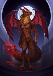 Foxy Nessie the Devil by WolfsECHO