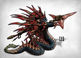 DOTA -  Slardar the Slithereen Guard by Geoffrey-E