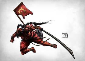 DOTA - Yurnero the Juggernaut by Geoffrey-E