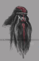 Cleverman - Hairy Man by MalSemmensArt