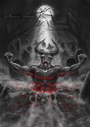 Satan Rising by MalSemmensArt