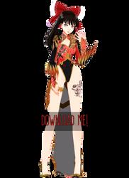 .:MMDxTDA PhoenixDragon Reimu DOWNLOAD:. by ONIGIRIKINGU