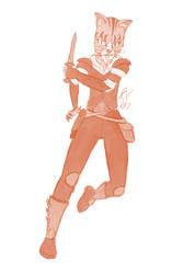 Di Angelo, Khajit Bounty Hunter Sketch Request by JohnnyVe3
