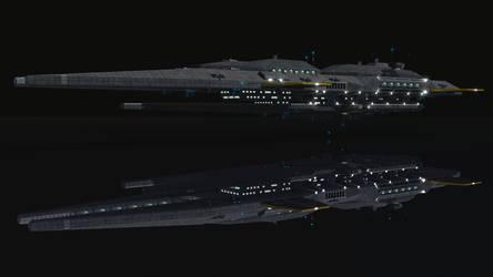 Spaceship Farragut 4K by Oseritzel