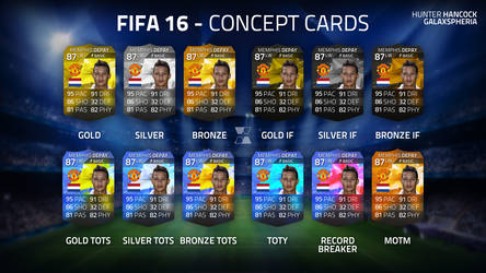 FIFA 16 FUT Concept Cards by Galaxspheria