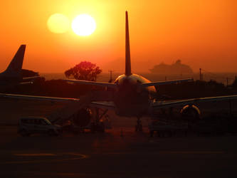 Sunset Airport by Daninsky