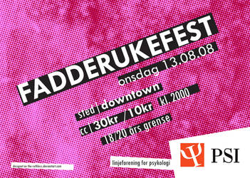 PSI: Fadderukefest - Flyer by the-ruthless