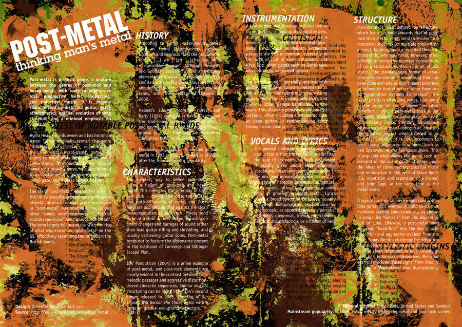 Post-Metal: Random Spread 01 by the-ruthless