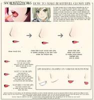 HOW TO MAKE BEAUTIFULL GLOSSY LIPS by SwordwaltzWORKS