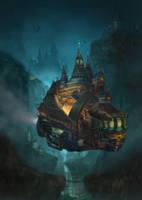 Howls castle redesign by lafemmedart218