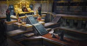 throne room by lafemmedart218