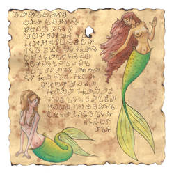 Mermaids on Parchment by tursiart