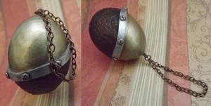 Steampunk Blown Egg Christmas Ornament by tursiart