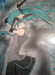 Hatsune Miku by ZeroEdgeArt