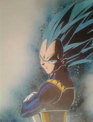 Super Saiyan Blue Vegeta by ZeroEdgeArt