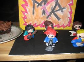 MCR Killjoys-Stage clay dolls by SelenaKitteh