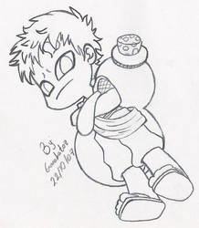 Mini Gaara by Garabatoz