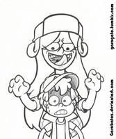 Wendy and Dipper by Garabatoz