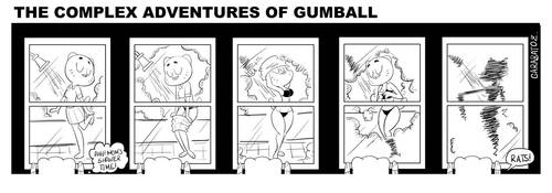 The Complex Adventures of Gumball A by Garabatoz