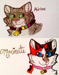 Adrienette Cat!AU by ArrowAzura