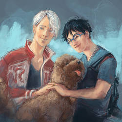 Viktor and Yuuri by Palila