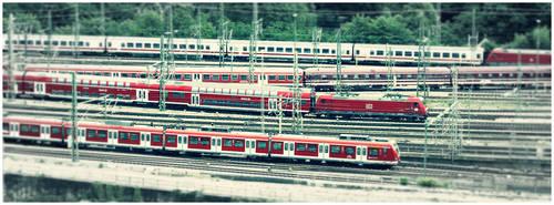 toy train. by Schleifchen