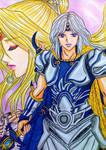 Final Fantasy IV: Cecil Harvey x Rosa Farrell by dagga19