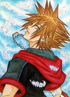 Sora Kingdom Hearts III Manga style by dagga19