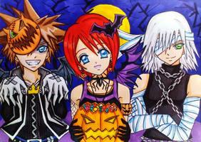 Sora x Kairi x Riku : Trick or Treat? by dagga19