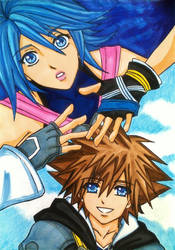Kingdom Hearts 2.8: Sora and Aqua by dagga19