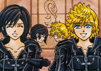 KH3 SPOILER : Roxas and Xion by dagga19