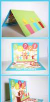 Pop-up Birthday Card by superMIM